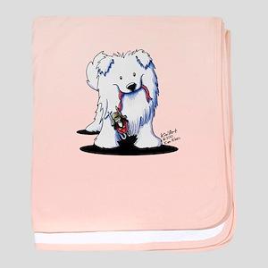 Penguin Sled Samoyed Infant Blanket