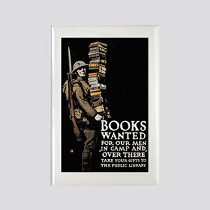 Books Wanted Poster Art Rectangle Magnet