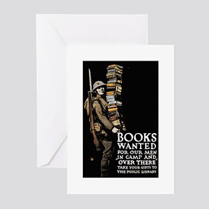 Books Wanted Poster Art Greeting Cards (Package of
