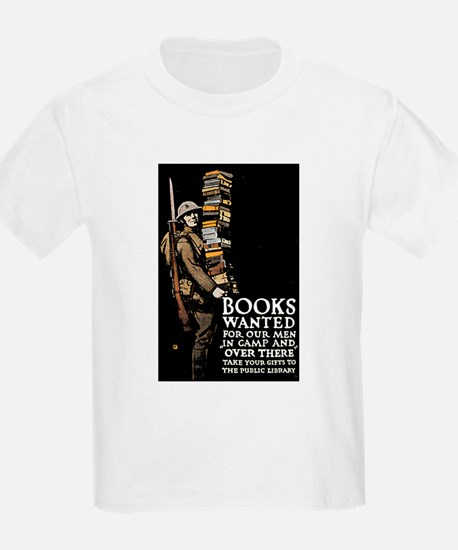Books Wanted Poster Art (Front) Kids T-Shirt