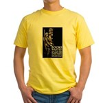 Books Wanted Poster Art Yellow T-Shirt