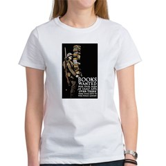 Books Wanted Poster Art Women's T-Shirt