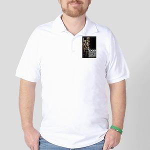 Books Wanted Poster Art Golf Shirt