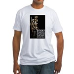 Books Wanted Poster Art Fitted T-Shirt