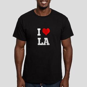 I love LA Men's Fitted T-Shirt (dark)
