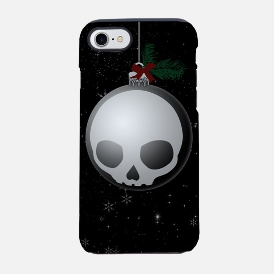Skull Christmas Ornament Graphic iPhone 7 Tough Ca