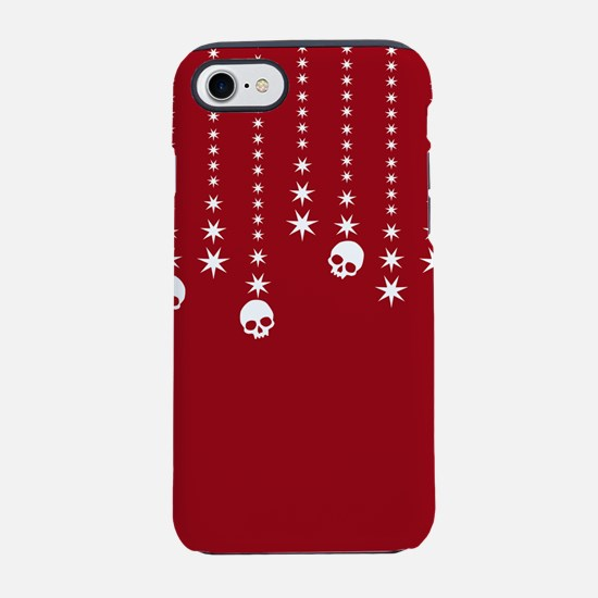 Skull Dangles Christmas Red iPhone 7 Tough Case