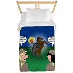 The KNOTS Horseman Twin Duvet Cover