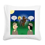 The KNOTS Horseman Square Canvas Pillow