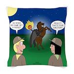 The KNOTS Horseman Woven Throw Pillow