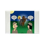 The KNOTS Horseman Rectangle Magnet (100 pack)