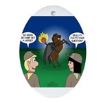 The KNOTS Horseman Oval Ornament