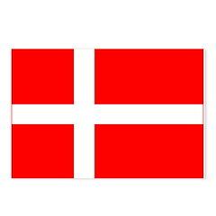 Denmark Danish Blank Flag Postcards (Package of 8)