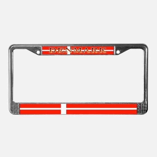 Denmark Danish Blank Flag License Plate Frame