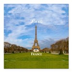 "Paris Square Car Magnet 3"" x 3"""