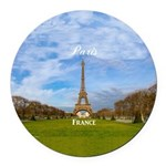 Paris Round Car Magnet