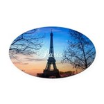 Paris Oval Car Magnet