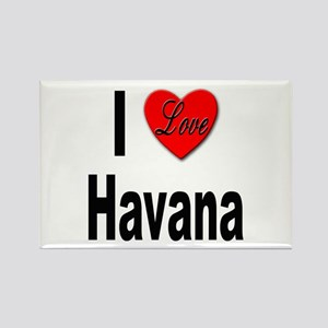 I Love Havana Cuba Rectangle Magnet