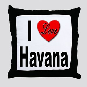 I Love Havana Cuba Throw Pillow