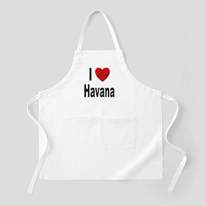 I Love Havana Cuba BBQ Apron