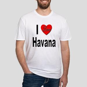 I Love Havana Cuba (Front) Fitted T-Shirt