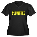 Plumtree Women's Plus Size V-Neck Dark T-Shirt