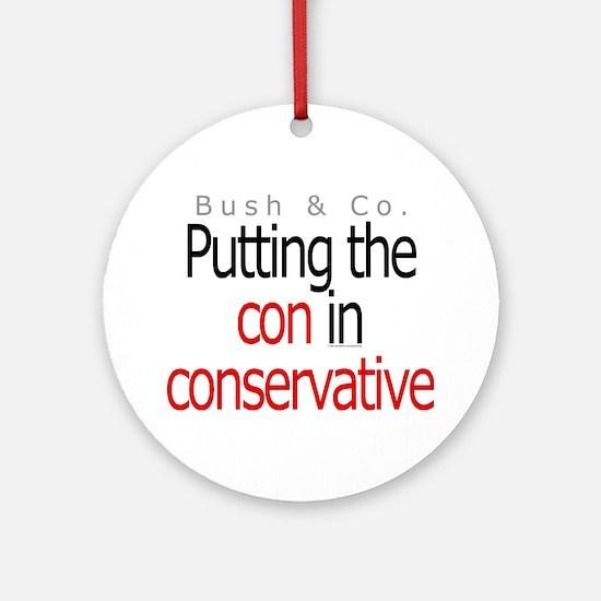 Con in conservative Ornament (Round)