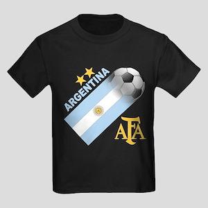 Argentina world cup soccer Kids Dark T-Shirt