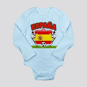 Spain World cup champions Long Sleeve Infant Bodys