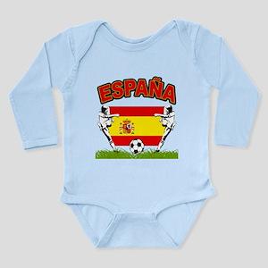 Spainish Soccer Long Sleeve Infant Bodysuit