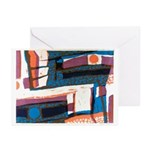 Structure With Suns Greeting Cards (pack Of 10)