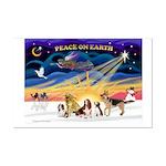 Xmas Sunrise - Five Dogs Mini Poster Print