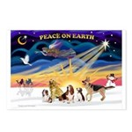 Xmas Sunrise - Five Dogs Postcards (Package of 8)