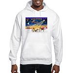 Xmas Sunrise - Five Dogs Hooded Sweatshirt
