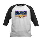 Xmas Sunrise - Five Dogs Kids Baseball Jersey