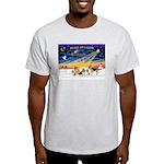 Xmas Sunrise - Five Dogs Light T-Shirt