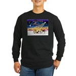 Xmas Sunrise - Five Dogs Long Sleeve Dark T-Shirt
