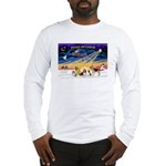 Xmas Sunrise - Five Dogs Long Sleeve T-Shirt