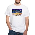 Xmas Sunrise - Five Dogs White T-Shirt