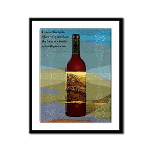 Ode To Wine Framed Print