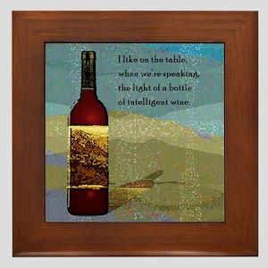Ode To Wine Framed Tile