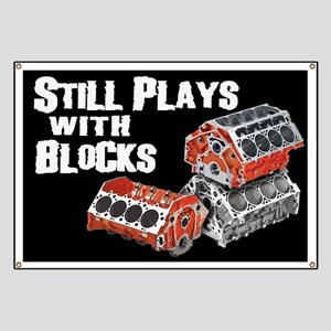 Still Plays With Blocks Banner