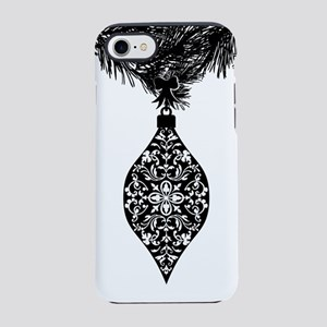 Black Holiday Ornament Graphic iPhone 7 Tough Case
