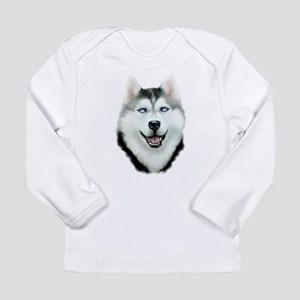 Siberian Husky Long Sleeve Infant T-Shirt