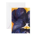 Pansies Greeting Cards (Pk of 10)