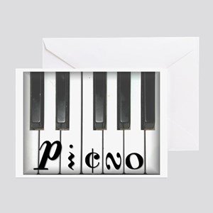Piano keyboard Greeting Cards (Pk of 10)