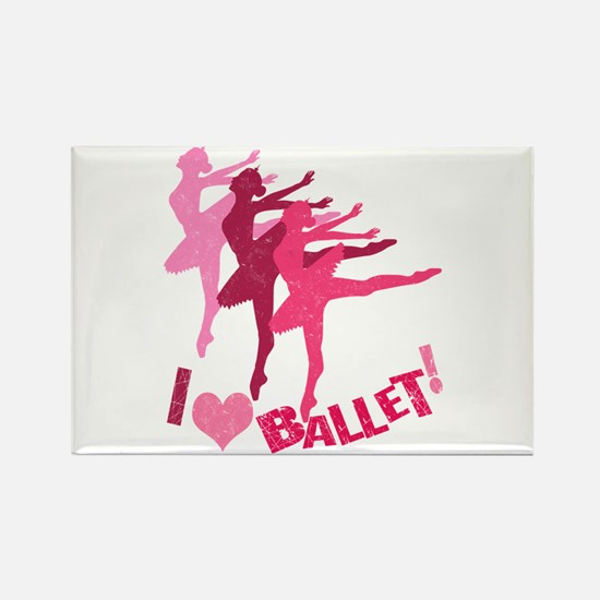 I Love Ballet Rectangle Magnet