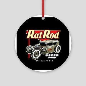 Rat Rod Speed Shop Ornament (Round)