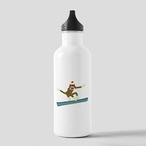 Sock Monkey Snowboarder Stainless Water Bottle 1.0