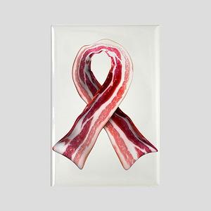 Bacon Ribbon Rectangle Magnet